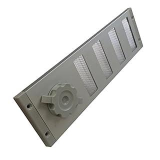 verstellbares Schiebegitter eloxiert 300 x 90 mm