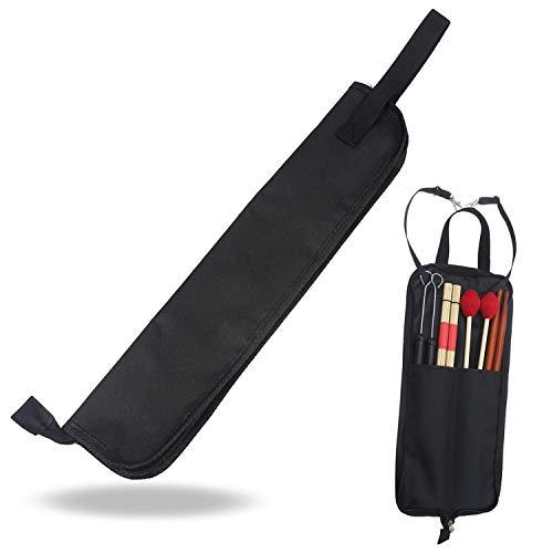 Xrten Borsa per Bacchette BatteriaDrum Stick Bag con Tracolla Custodia Impermeabile 600D per Bacchette