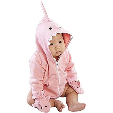 Koly La niña de los niños del muchacho camiseta del tiburón sudadera con capucha Tops Escudo (100)