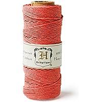 Hemptique - Rotolo di corda di canapa, 50 g, colore: Corallo