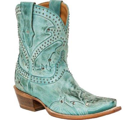 Lucchese  M4976, Bottes et bottines cowboy femme Turquoise