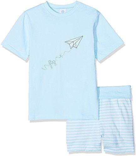 Sanetta Baby-Jungen Zweiteiliger Schlafanzug 221382, Blau (Blue Ice 50055), 86