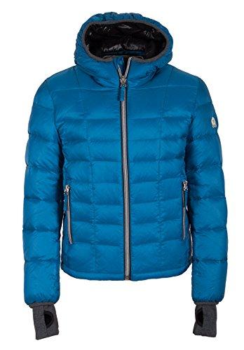 Grimada A32 Herren Daunenjacke Winterjacke TARORE mit Kapuze (50, blau)