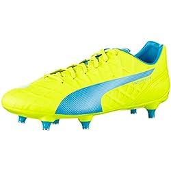 PumaevoSPEED 4.4 SG - Scarpe da Calcio Uomo , Giallo (Gelb (safety yellow-atomic blue-white 02)), 44