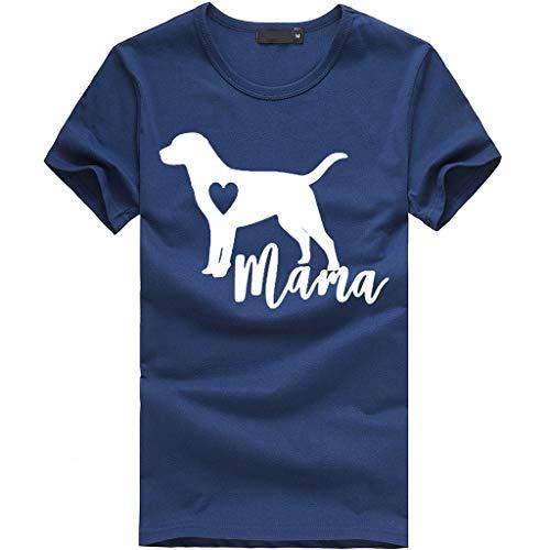 (TWIFER Hund Gedruckt Shirt Damen Mädchen Plus Size Gedruckt Tees Shirts Kurzarm T Shirt Bluse Tops)