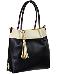 Abrazo Fashionable Black Color Hand Bag For Women's In Good PU Material - B07BGWNZHL