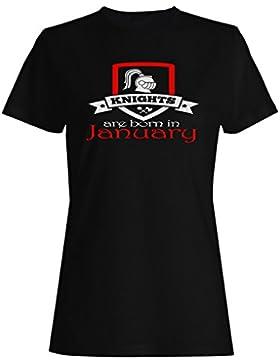 Los caballeros nacen en enero camiseta de las mujeres z99f