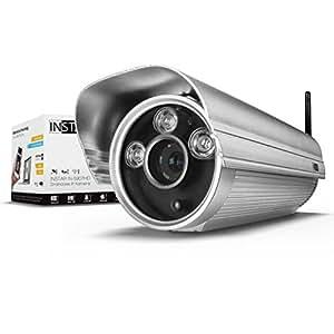 INSTAR IN-5907HD Wlan IP Kamera / HD Sicherheitskamera für Außen / IP Überwachungskamera / IP cam mit LAN & Wlan / Wifi für Outdoor (3 HighPower IR LEDs, Infrarot Nachtsicht, wetterfest für außen, SD Karte, Bewegungserkennung, Aufnahme, WDR) silber