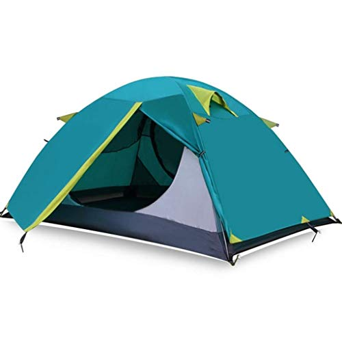 hreszeiten Wind und Regen Hand Set Aluminium Camping Bergsteigen Zelte (Color : Green) ()