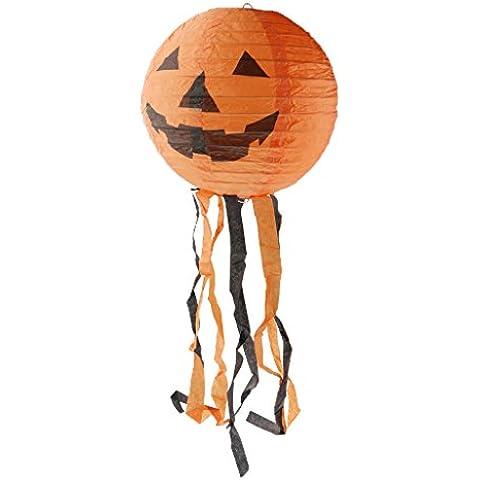 Cara de Calabaza de Halloween Colgante de Puerta Plegable Parte de Apoyos de Decoración de 12 Pulgadas