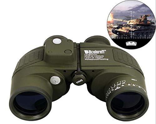 XWLCR Professionelles HD Fernglas, Erschütterungsschutz Teleskop mit intern Richtungs Ranging-System & Kompass für die Navigation, Einstellbare Vision-Difference