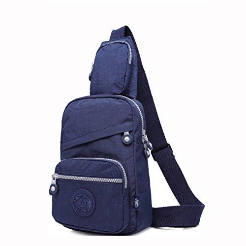GSHGA Männer Und Frauen Rucksack Brust Tasche Umhängetasche Umhängetasche Mode Trend Freizeit Paket,Armycolor sapphireblue