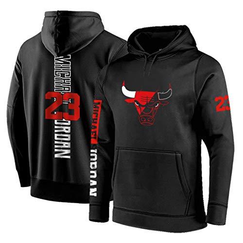 Anpassen Chicago Bulls Hoodie Basketball Herren Hoody Jordan Irving Hip Hop Sweatshirt (Tasche Jordan Basketball)