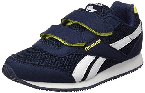 Reebok Royal Cljog 2RS 2V, Scarpe da Corsa Bambino Blu / Giallo / Bianco (Collegiate Navy / Yellow Spark / Wht)