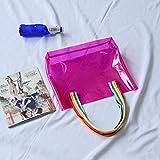 EgBert Honana Hn-B65 Colorato Impermeabile PVC Custodia da Viaggio Borsa Trasparente Grande Spiaggia Outdoor Tote Bag - Rosa