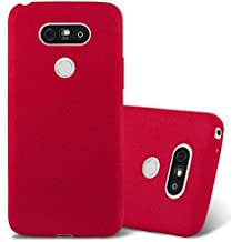 Cadorabo - Ultra Slim TPU Frosted Mate Coque Gel (silicone) pour LG G5 - Housse Case Cover Bumper en FROST-ROUGE