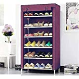 Caxon Home Creative 6 layer collapsible shoe rack Metal Collapsible Shoe Stand (6 Shelves,)