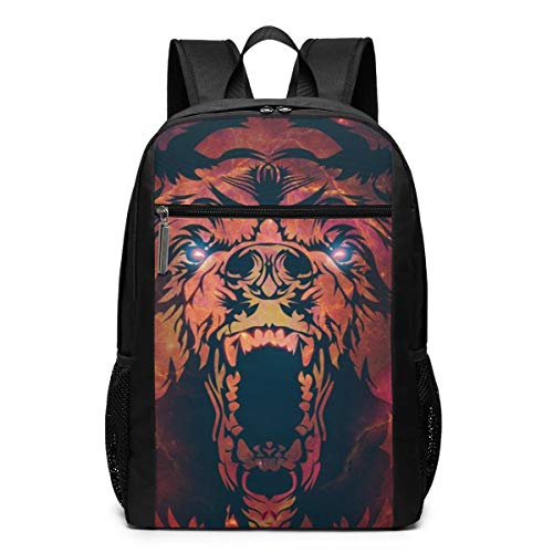 Vintage Laptop Backpack, Cool Bear College School Computer Bag for Women Men