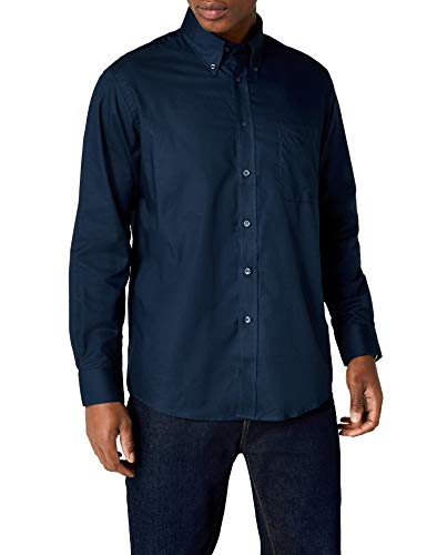 Fruit of the loom oxford, camicia uomo, blu (navy), xxx-large