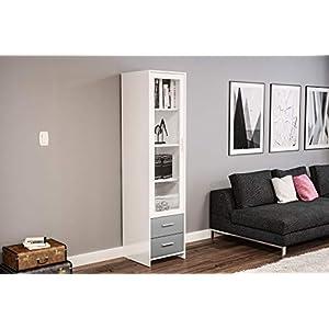 415DTRd57OL. SS300  - Birlea, Edgeware Glass Door Cabinet, White
