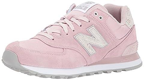New Balance 574, Baskets Femme, Rose (Pink), 38 EU