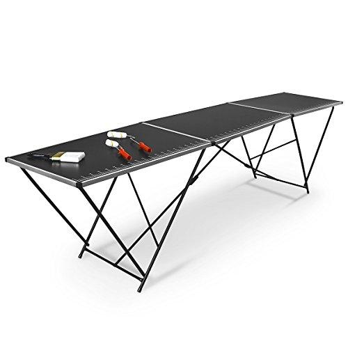 Relaxdays Tapeziertisch Klapptisch Alu Rahmen 300 x 60 x 77 cm mit Henkel, 10015621