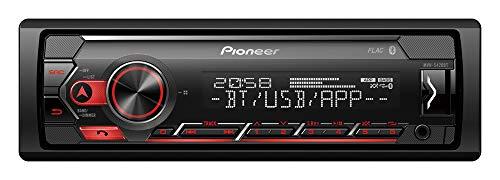 Pioneer MVH-S420BT, 1DIN Autoradio mit RDS, rot, halbe Einbautiefe, deutsche Menüführung, Bluetooth,  USB, AUX-Eingang, iPod/iPhone-Direktsteuerung, Freisprecheinrichtung, Smart Sync