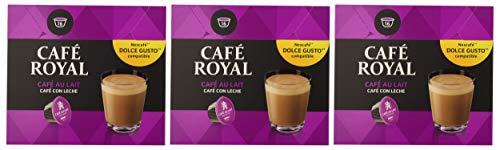 Café Royal Café con Leche 48 cápsulas compatibles con Nescafé* Dolce Gusto* (Pack de 3 x 16...