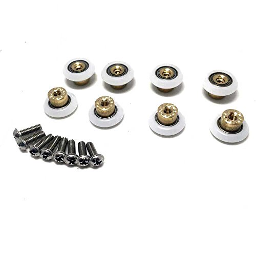 Lote de 8 rodamientos CY-103 de puerta de ducha, Roller diameter 19mm