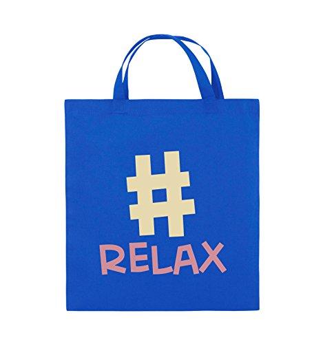 Borse Comedy - #relax - Borsa Di Juta - Manico Corto - 38x42cm - Colore: Nero / Bianco-neon Verde Blu Royal / Rosa-beige