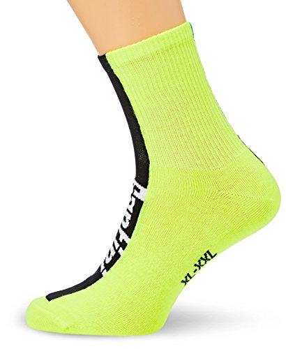 Santini 365da uomo Comp 2Profile Coolmax calze, Uomo, Flag High Profile, Yellow, x-L/2X-L