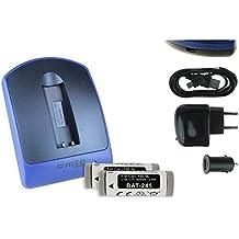 2 Baterìas + Cargador (USB/Coche/Corriente) NB-9L per Canon Ixus, Powershot, ELPH.., - v. lista