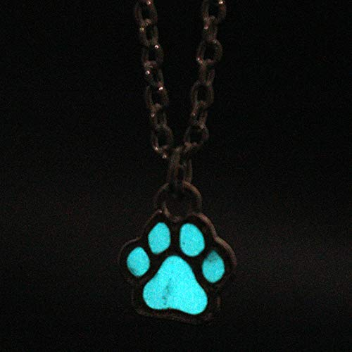Halsketten für Herren Mode Süße Katze Hund Tier Tag Haustiere Anhänger Anhänger Halskette Glühen In Der Dunklen Nacht Leuchtende Halskette Frauen Männer Geschenk (Der Glühen Halskette In Dunklen)