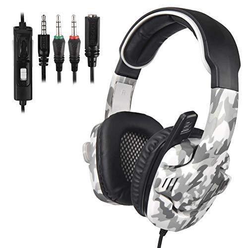 YUNYIN Gaming-Kopfhörer, 3,5 mm, mit Geräuschunterdrückung, Mikrofon für PS4/Tablet/Telefon