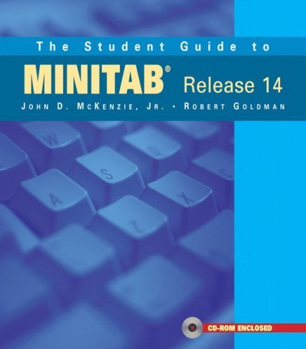 The Student Guide to MINITAB Release 14 + MINITAB Student Release 14 Statistical Software (Book + CD) by John McKenzie (2004-07-30)