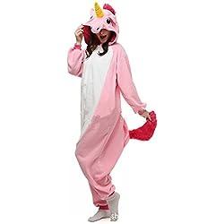 Misslight Unicornio Pijamas Animal Ropa de dormir Cosplay Disfraces Kigurumi Pijamas para Adulto Niños Juguetes y Juegos (S, Pink)