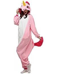 jysport unicornio pijama forro polar con capucha pijama para niños, Ladie, hombre, rosa, mujer