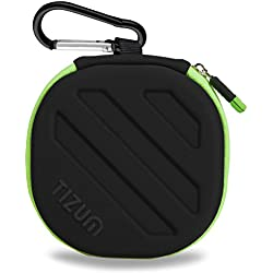 TIZUM Earphone Carrying Case - Multi Purpose Pocket Storage Travel Organizer Case for Earphone, Pen Drives, Memory Card, Data Cable (Black)