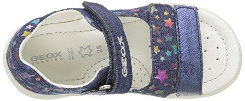 Geox B Sandal Nicely B, Sandales premiers pas bébé fille Bleu - Bleu marine/multicolore (C4243)