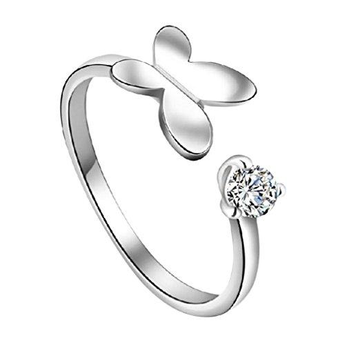 Leisial™ adatti ad un anello a forma di farfalla ad anello cuore apertura nuova garanzia di qualità dei gioielli