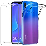Yoowei Cover per Huawei PSmart+ / Huawei P Smart Plus con [2-Pack Pellicola Protettiva in Vetro...