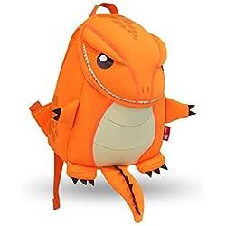 GreenForest ni?os regalo ni?o mochilas ni?os mochila - Linda realista dinosaurio Orange(10.6*9.1*3.7 inch) - Navidad regalo para 3-8 a?os