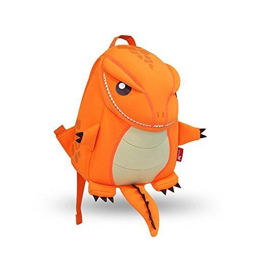 GreenForest bambini regalo bambino Zaini bambini zaino - carino realistico dinosauro Orange(10.6*9.1*3.7 inch) - Natale regali per 3-8 anni