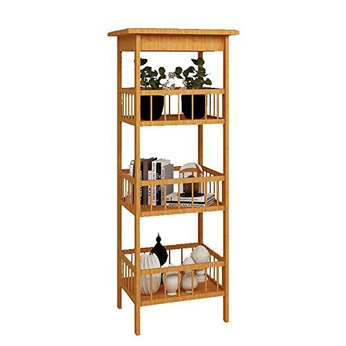 Ablageboden Bambus-Multifunktions-Wohnzimmer Schlafzimmer Boden Ablageboden, 3 Größen (größe : 33 * 33 * 100cm) ()