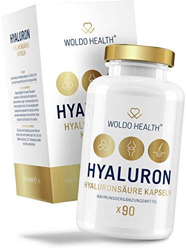 Hyaluronsäure-Kapseln hochdosiert Hyaloronsäure mit Collagen Biotin & Zink - geeignet für Haut, Anti-Aging und Gelenke - 90x vegane Kapseln für 3 Monatsvorrat