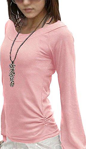 Mississhop Fador Japan Style Moderne Bluse Tunika Longshirt Puderrosa S