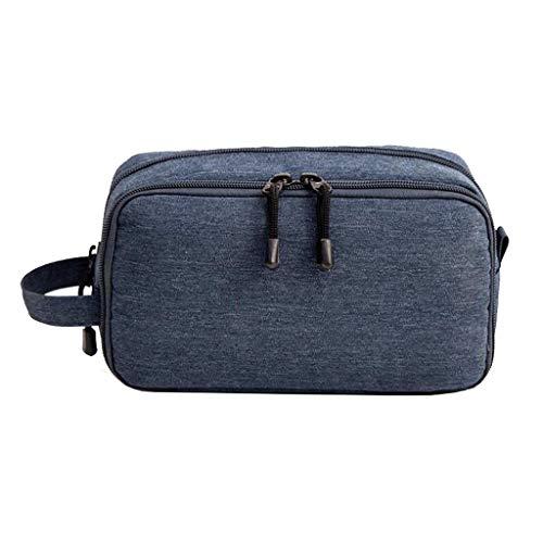 Trousse de toilette Étanche Cosmetic Bag Storage Grande Capacité Portable Multifonctionnel Simple Voyage Wash Universal 3 Couleur 22.5 * 9 * 12.5cm MUMUJIN (Couleur : Bleu)