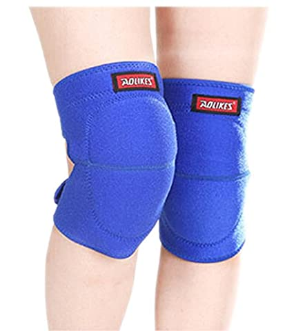 BXT 1 Pair Adult Compression Kneepad Sports Protective Gear Sponge Padded Crushproof Knee Pad Knee Brace Support Sleeve Warmer for Sports Fitness Exercise or Work - Pain-relief, Free-injury,