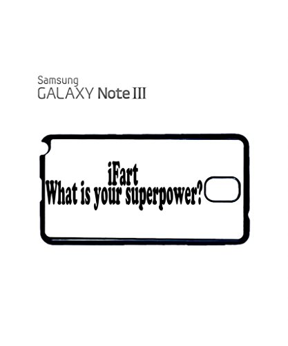 iFart What is Your Superpower Mobile Cell Phone Case Samsung Galaxy S5 Black Blanc