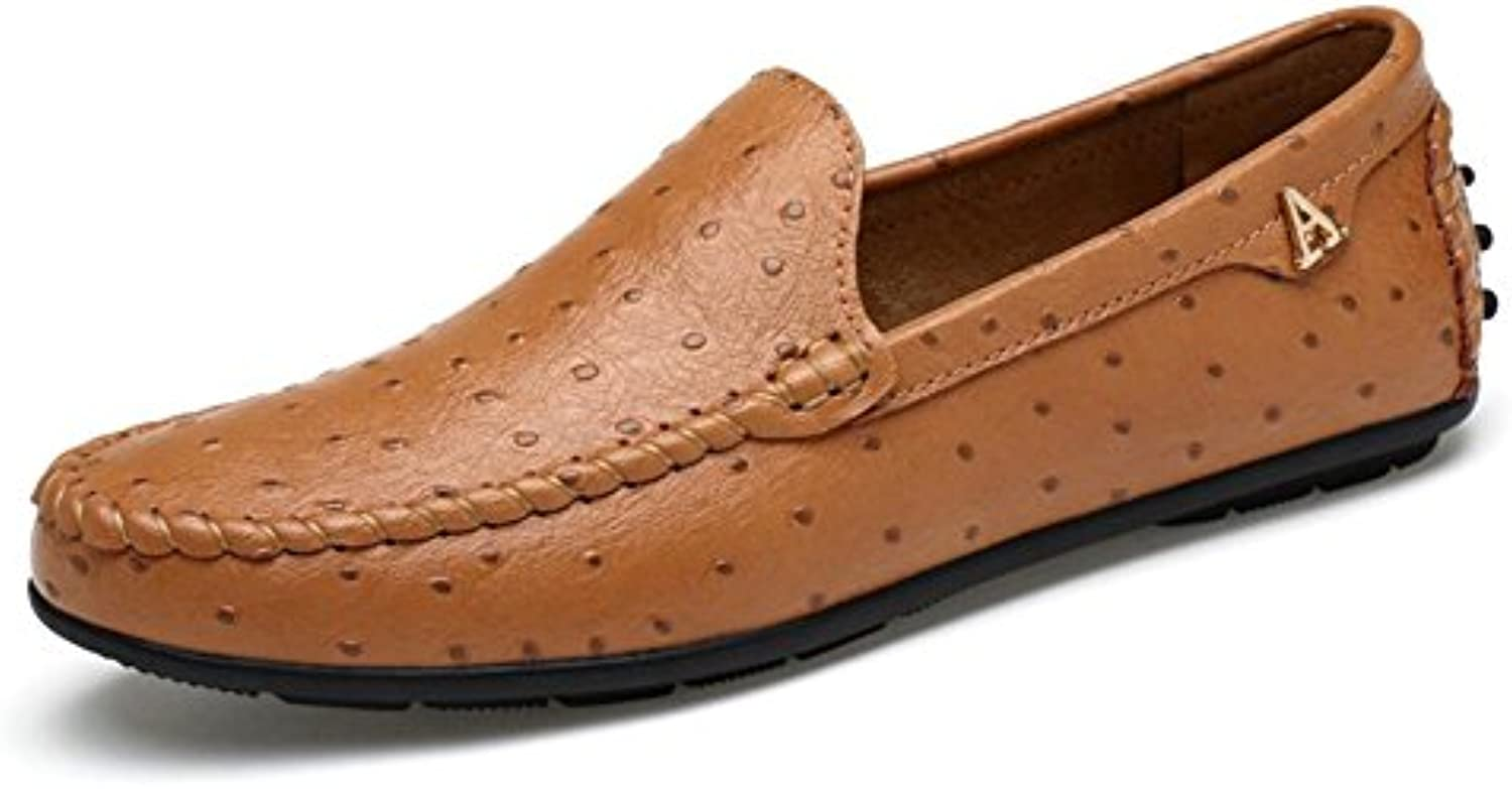 Mocasines y Slip-Ons para Hombres 2018 Summer/Fall New Punzonado para Hombre Soft Surface/Soft Bottom Casual Shoes  -